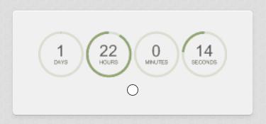 在電子郵件裡加入倒數計時器,創造急迫感,提升轉換率。 countdown clock for emails