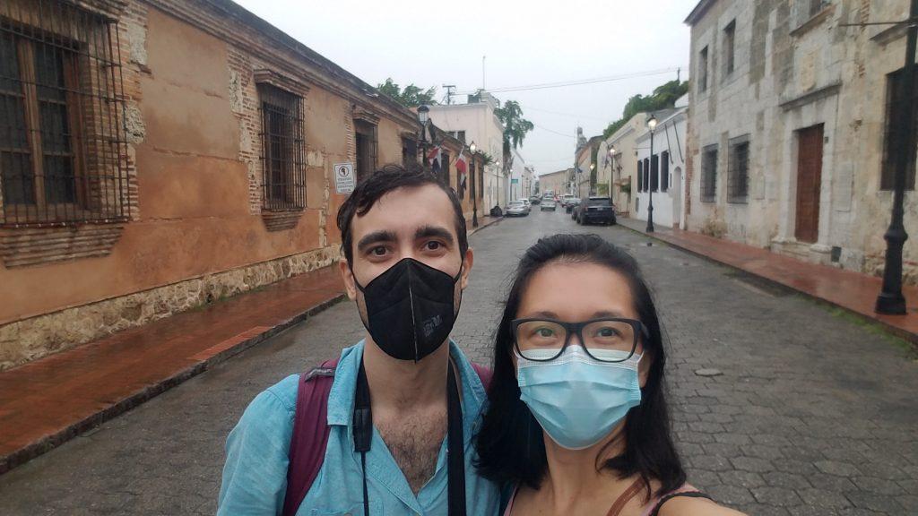 Super Mei and Evan in Zona Colonial in Santo Domingo in Dominican Republica