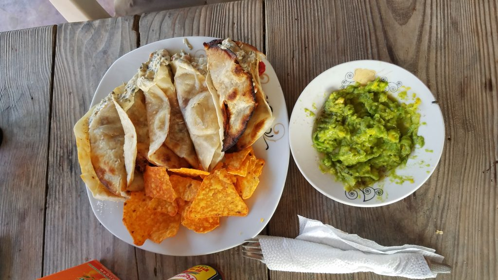 Tacos at Grecie's Restaurant Comedor in Las Galeras, Samana, Dominican Republic