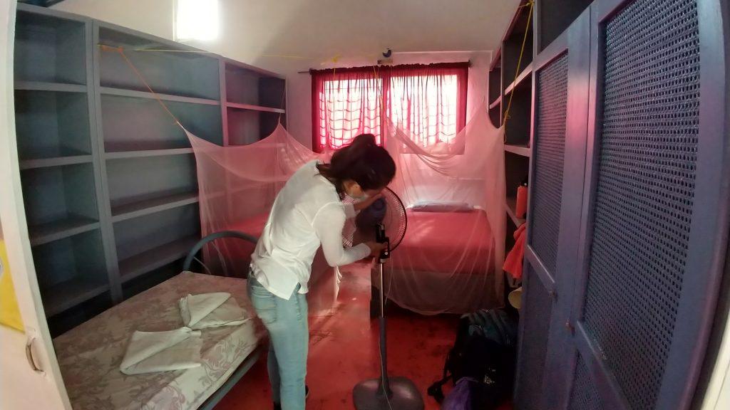twin room in il Triaangolo Hostel in Las Galeras, Samana, Dominican Republic