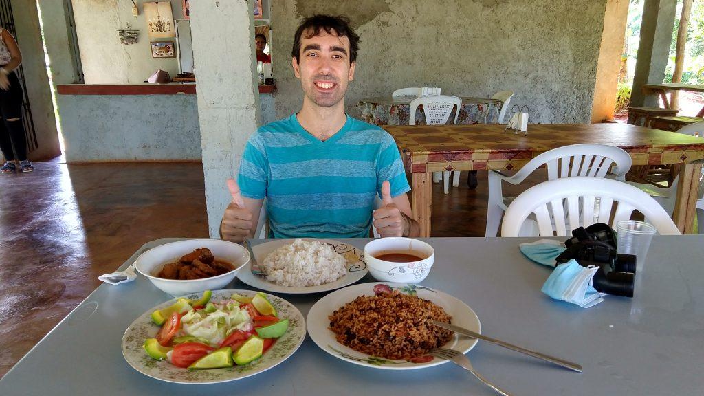 Typical Dominican Lunch in Las Galeras, Samana, Dominican Republic 典型多明尼加當地中餐