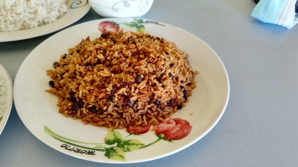 Typical Dominican Lunch in Las Galeras, Samana, Dominican Republic 典型多明尼加當地中餐 moros rice