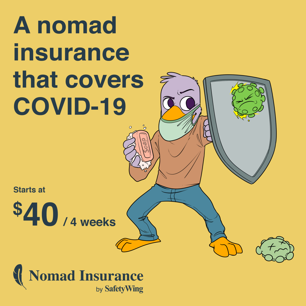 SafetyWing Travel Medical Insurance Covers Covid-19 2021