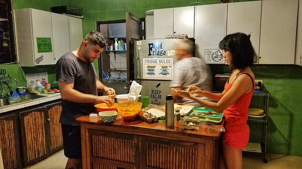 cooking gnochii with diego in the kitchen