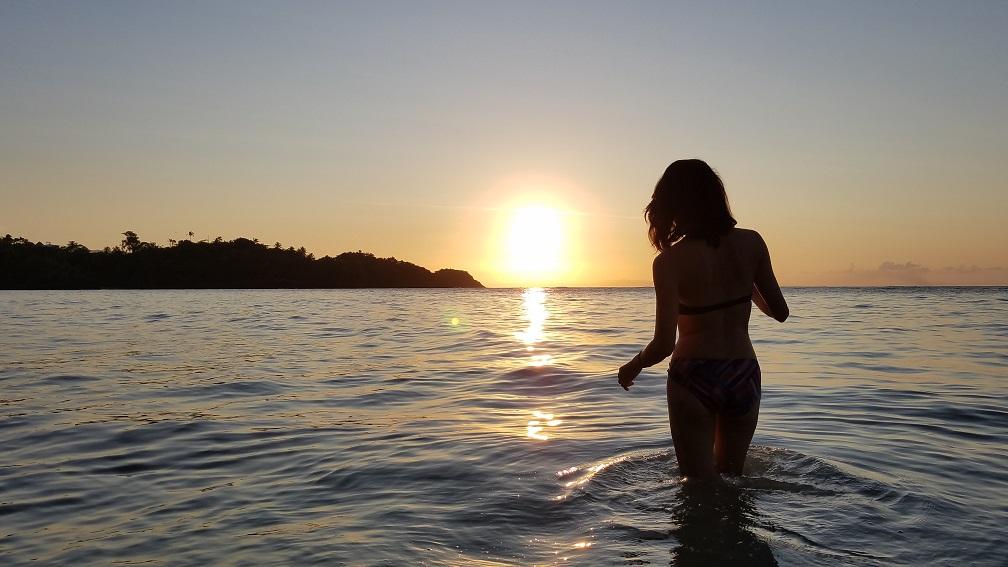 疫情低潮 Playa Las Ballenas Dominican Republic 多明尼加共和國 獨自一人旅行 sillouette