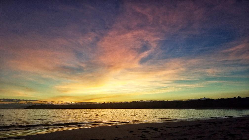 Las Terrenas多明尼加共和國拉斯特雷納斯Punta Popy七彩雲彩
