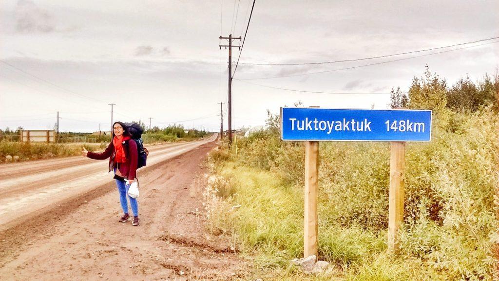 hitchhiking to tuk canada