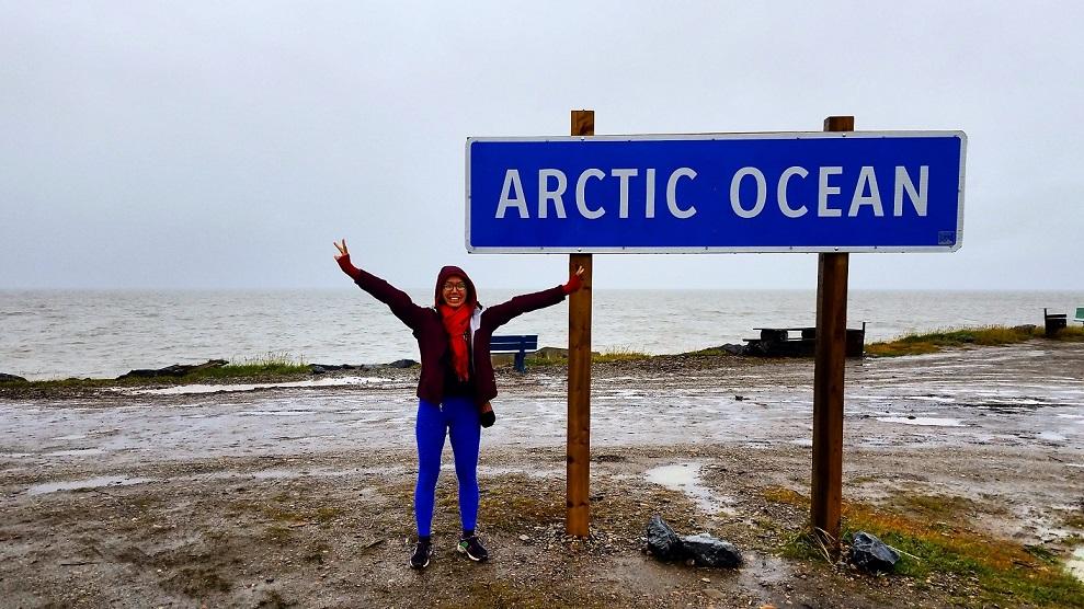 一邊搭便車一邊遠端工作抵達加拿大北極海
