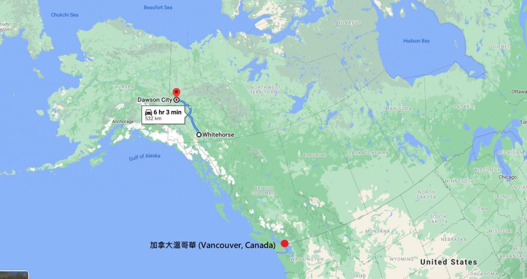 一邊旅行一邊搭便車從Whitehorse到Dawson City