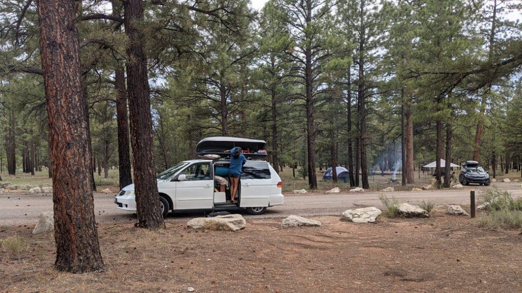 美國大峽谷Ten-X campground 數位遊牧邊工作邊公路旅行露營